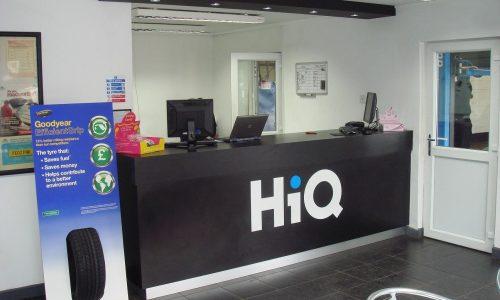 HiQ Redditch reception area