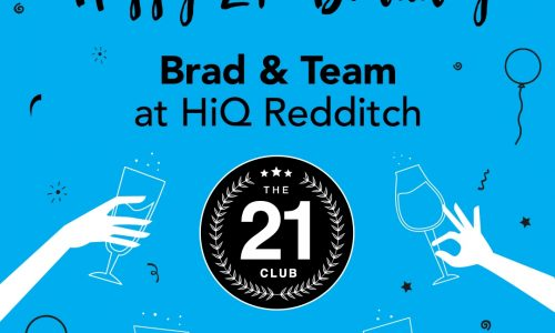 Congratulations to Brad and the team on 21 years-HiQ Conference 2018