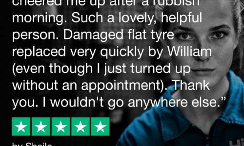 Trustpilot review for HiQ Tyres & Autocare Lanark