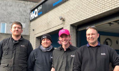 HiQ Truro team - Steve, Gary, Dillon, Ruan