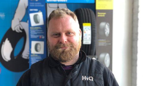 HiQ Helston receiving Gold Standard Award 2018- Dave Williams