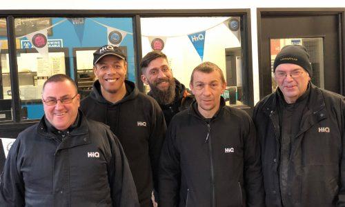 HiQ Coventry team - Jason, Bernard, Mark, Nigel and Mark