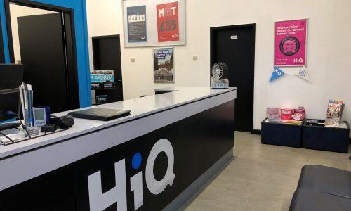HiQ Coventry reception area