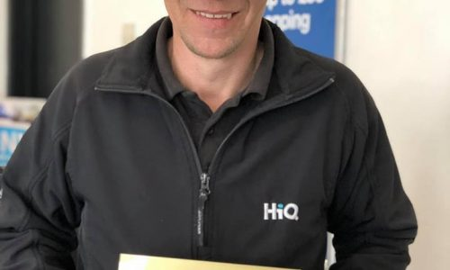 Jason at HiQ Coventry receiving their Gold Standard Award 2019