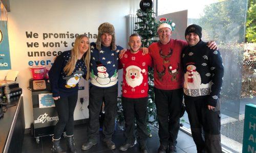 HiQ Nottingham team- Christmas jumper day 2018