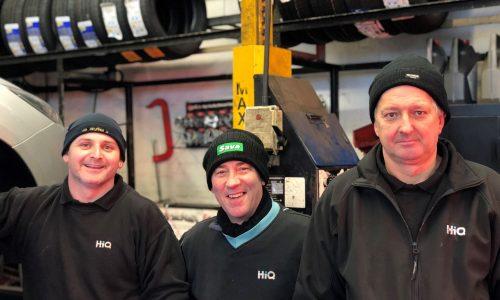 HiQ Nuneaton team - Malcolm, Tim and Gary