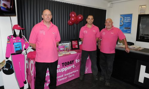 The HiQ Kettering Team- Project Pink raising money for Breast Cancer Care