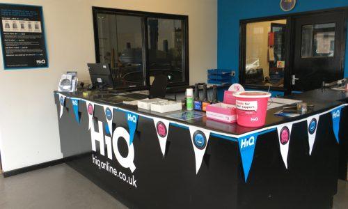 HiQ Shrewsbury reception desk