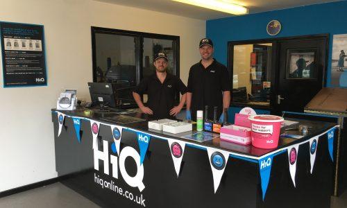 HiQ Shrewsbury team at reception