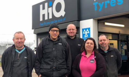 HiQ Erdington team - John, Lisa, Dave, Mark, Sab