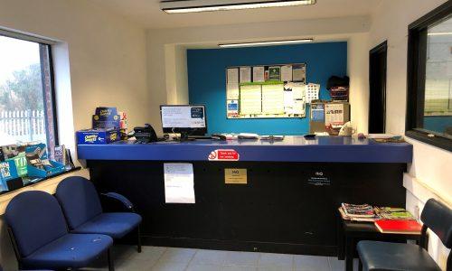 HiQ Evesham reception area