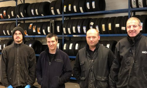 HiQ Evesham team - Lee, Rick, Matt, Kevin