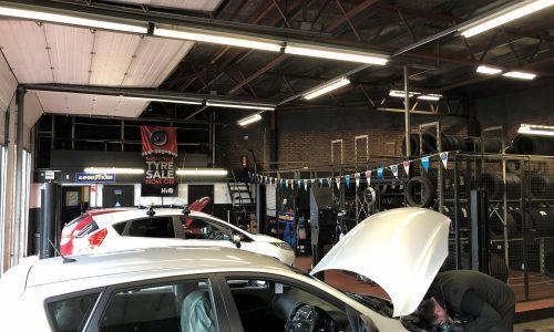 HiQ Oldbury cars in workshop