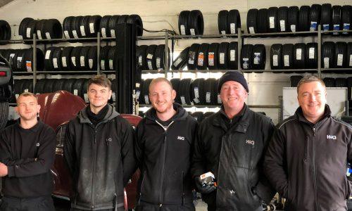 HiQ Worcester team - Matt, Rob, Brandon, John