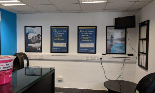 HiQ Skipton waiting area and reception