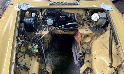 MG BGT at Hi Q Haywards Heath engine