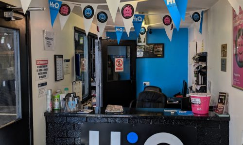HiQ Chesterfield decorated office