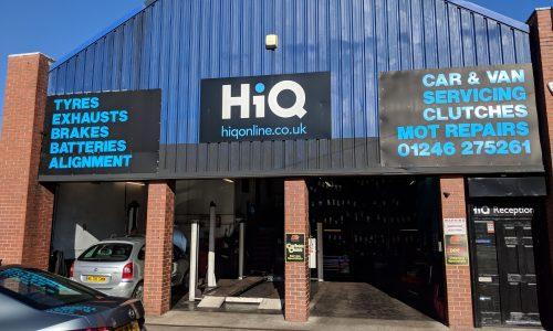Outside HiQ Chesterfield