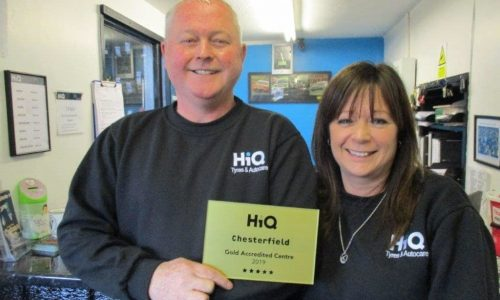 Pete and Paula at HiQ Chesterfield receiving their Gold Standard Award 2019