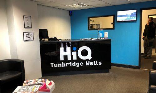 HiQ Tunbridge Wells reception