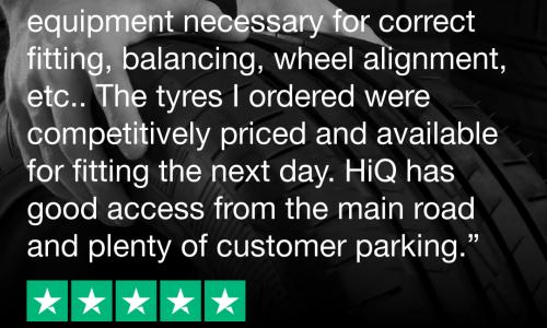 HiQ Tyres & Autocare Bury St Edmunds Trustpilot review