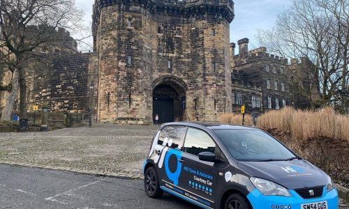 Hi Q Tyres Autocare Lancaster and Holton Courtesy Car on the move