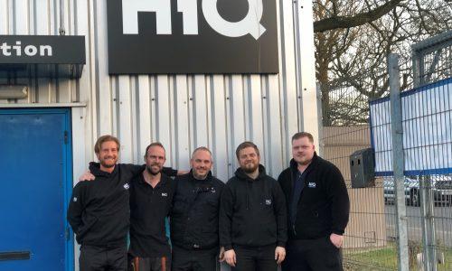 HiQ Medway team picture- Lee, Tim, Adam, Justin & Jake