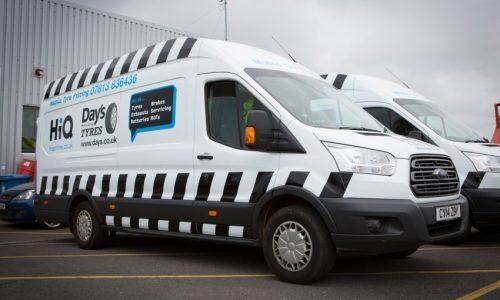 HiQ (Day's) Gorseinon mobile vans- tyres, brakes, exhausts, servicing, batteries, MOTs