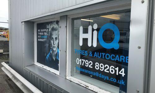 HIQ Tyres Autocare Gorseinon window vinyls