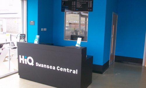 HiQ Llansamlet reception desk