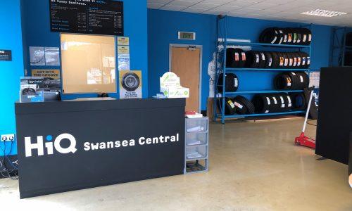 HiQ Llansamlet reception area