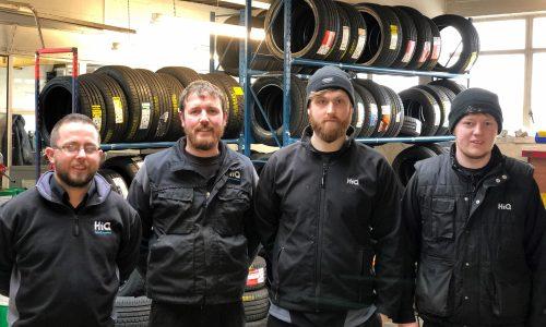 HiQ Malvern team picture - Matthew, Mark, Danny, Adam