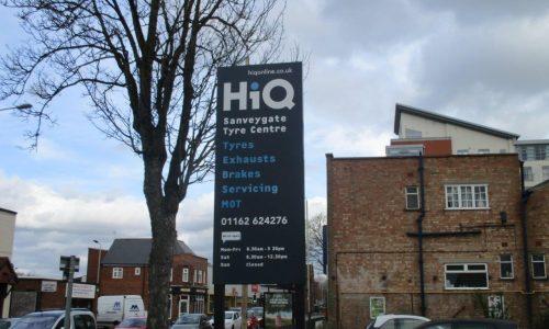 HiQ Leicester pylon outside centre