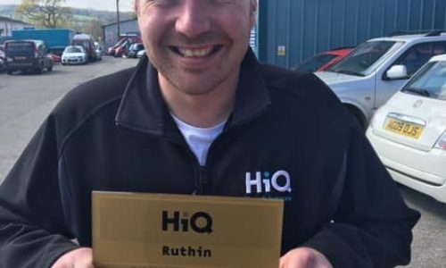 Dale at HiQ Ruthin receiving their Gold Standard Award 2019