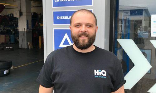 Cameron Jones Centre Manager HiQ Tyres Autocare Cardiff