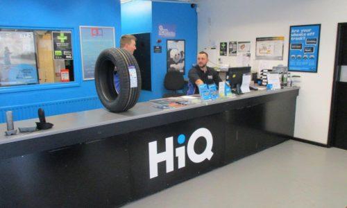 HiQ Burton reception desk