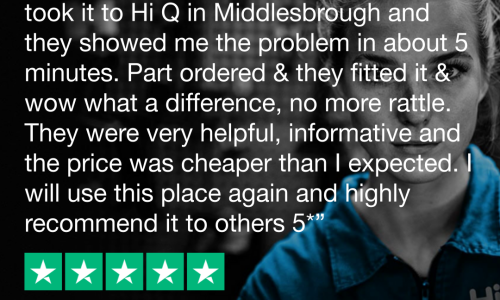 HiQ Tyres & Autocare Middlesbrough 5 star review