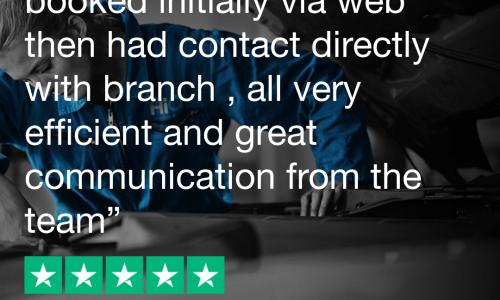 Trustpilot review Hi Q Tyres & Autocare Bath 5 star