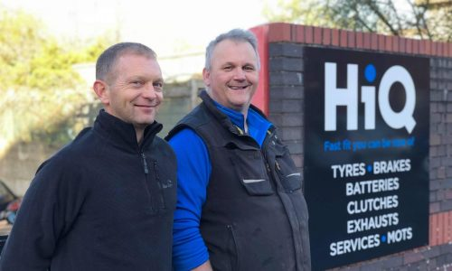 HiQ Tyres & Autocare Bath exterior signage