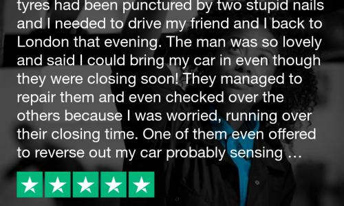 Trustpilot review Hi Q Tyres & Autocare Bath