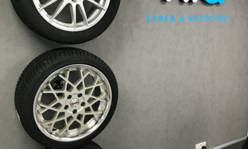 HiQ Tyres & Autocare Hedge End Tyre Wall.jpg