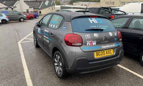 Picture of HiQ Plymouth Courtesy Car from Behind