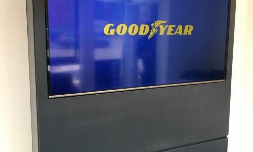 Digital Screen showing Goodyear logo at HiQ Enfield Centre