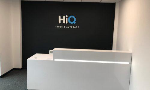 Reception desk at HiQ Enfield Centre