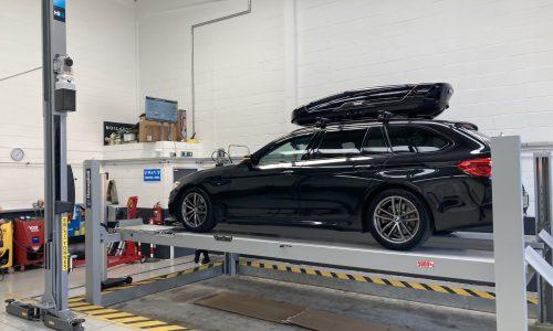 Hi Q Tyres Autocare Enfield car in workshop
