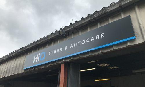 Hi Q Tyres Autocare Signage on bays
