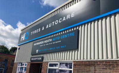 Hi Q Tyres Autocare Haywards Heath new signage