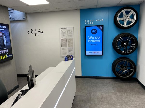 Hi Q Tyres Autocare Chelmsford reception area revamp