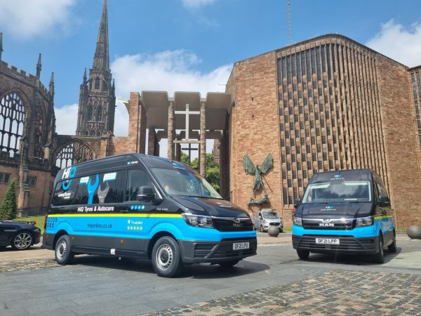 Hi Q Tyres Autocare Coventry Mobile Vans photoshoot in Coventry