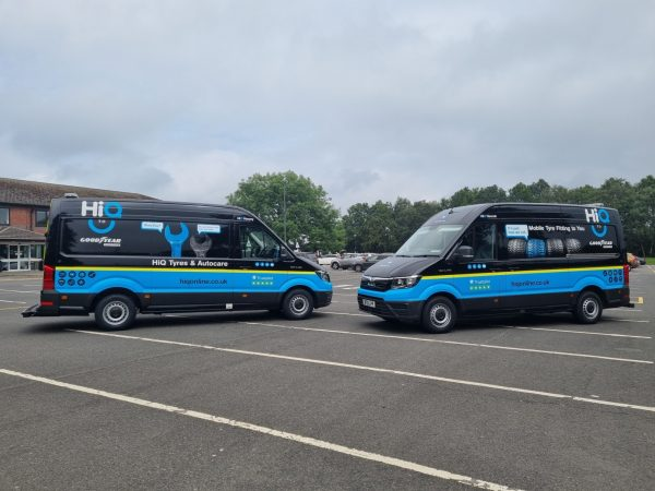 Hi Q Tyres Autocare Coventry Mobile Vans photoshoot